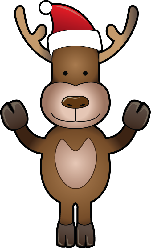 Clipartfort holidays christmas funny. Clipart reindeer two