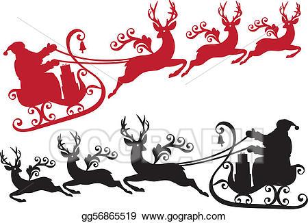 Eps illustration santa with. Clipart reindeer vector