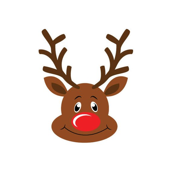 Clipart reindeer vector. Rudolph svg dxf png