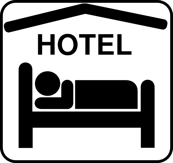collection of hotel. Clipart restaurant accommodation