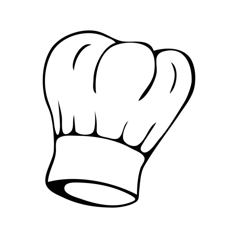 Chef cooking graphics svg. Clipart restaurant bakers hat