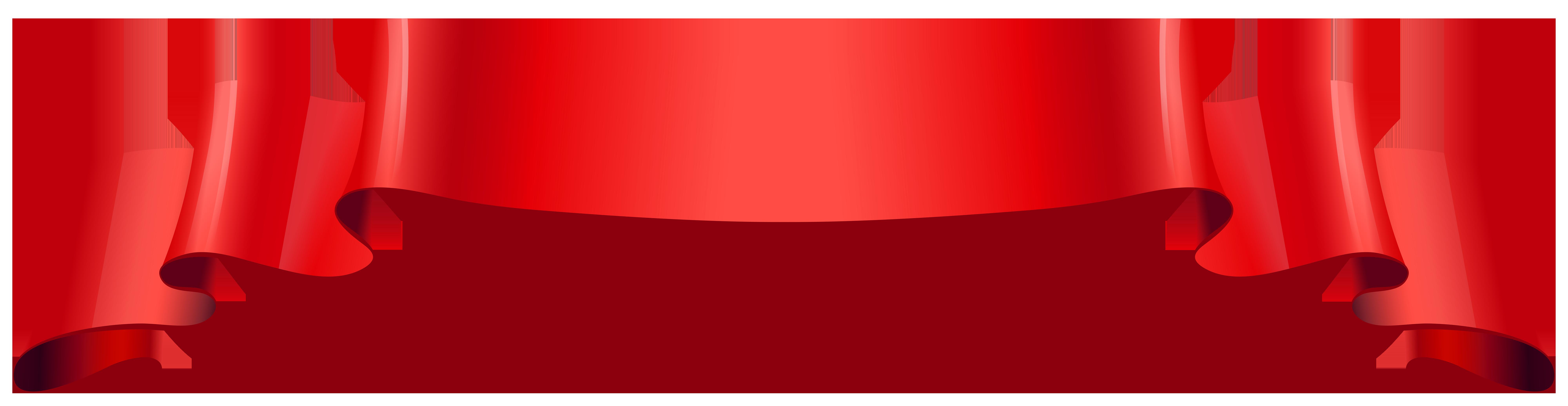 Clipart restaurant banner. Red transparent png image