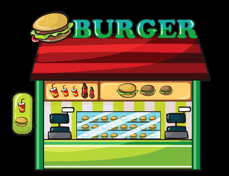 Fast food restaurant clip. Hamburger clipart burge