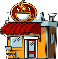 Cartoon png save our. Clipart restaurant cafeteria building