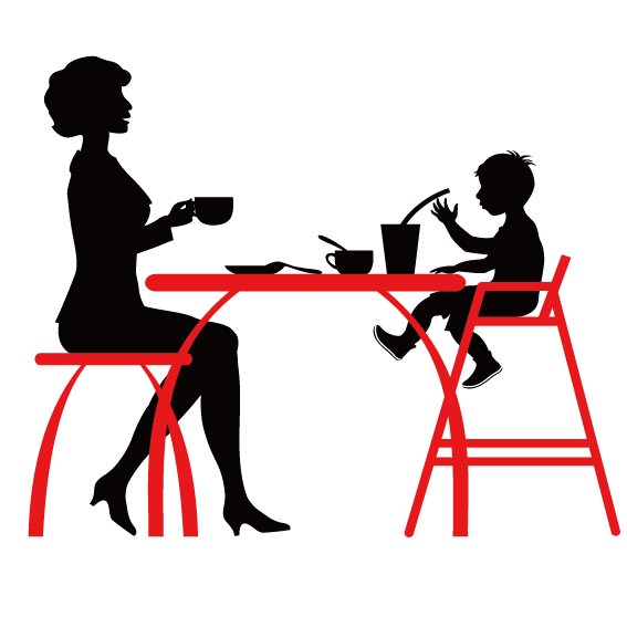 Coffee cafe restaurant silhouette. Waitress clipart mesero