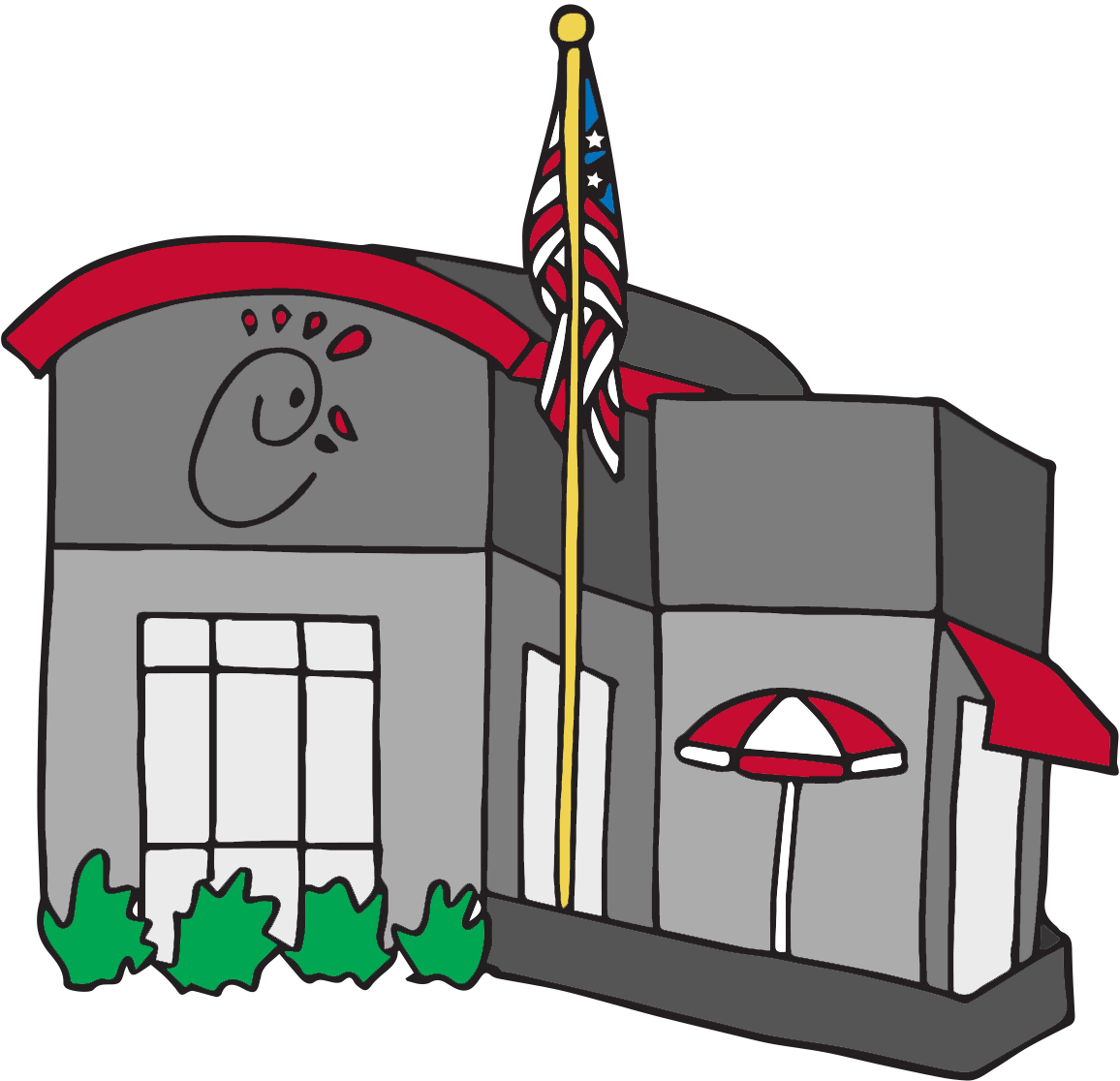 Maria baetti chick fil. Restaurants clipart illustration