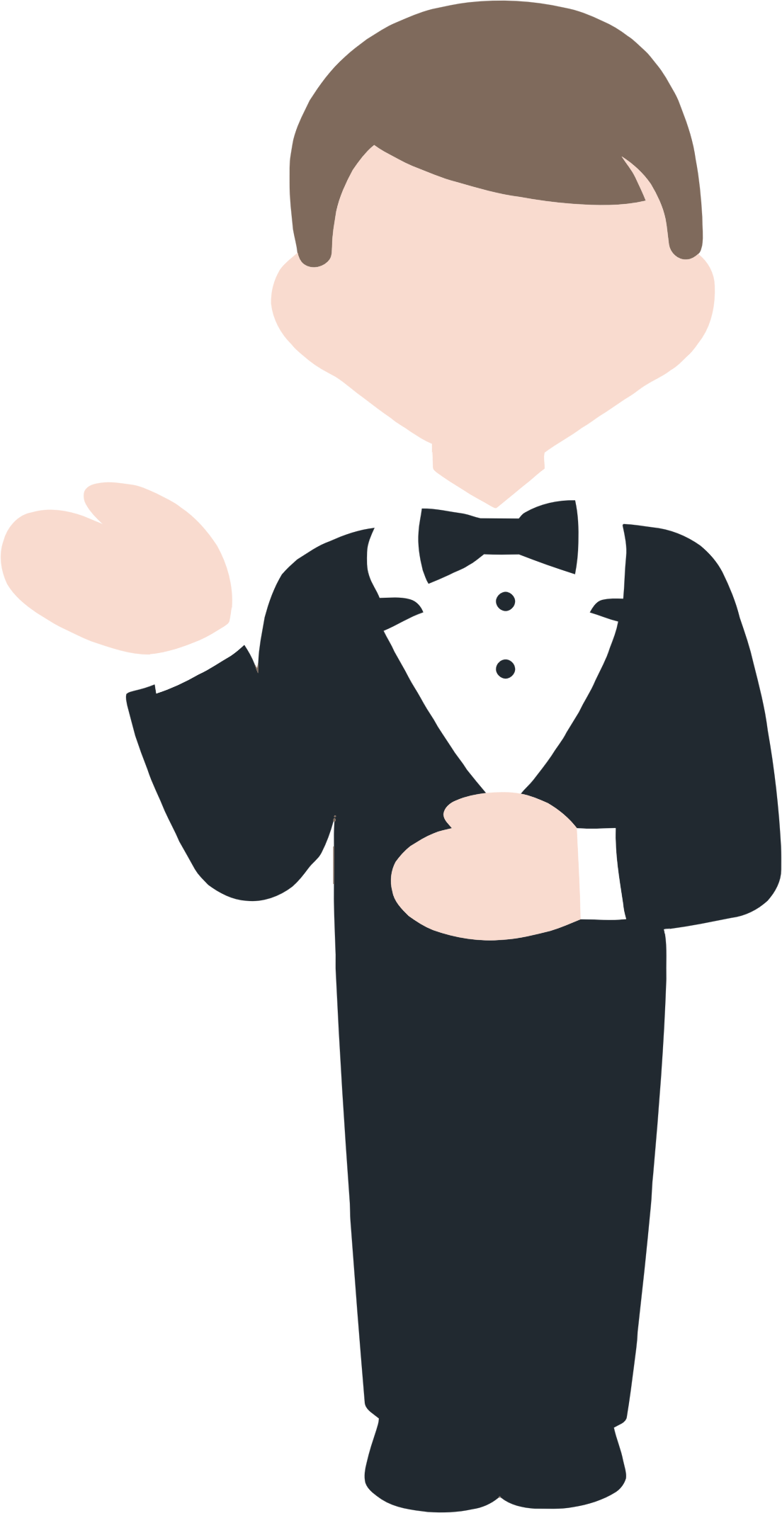 Restaurants clipart animated. Cartoon concierge big image