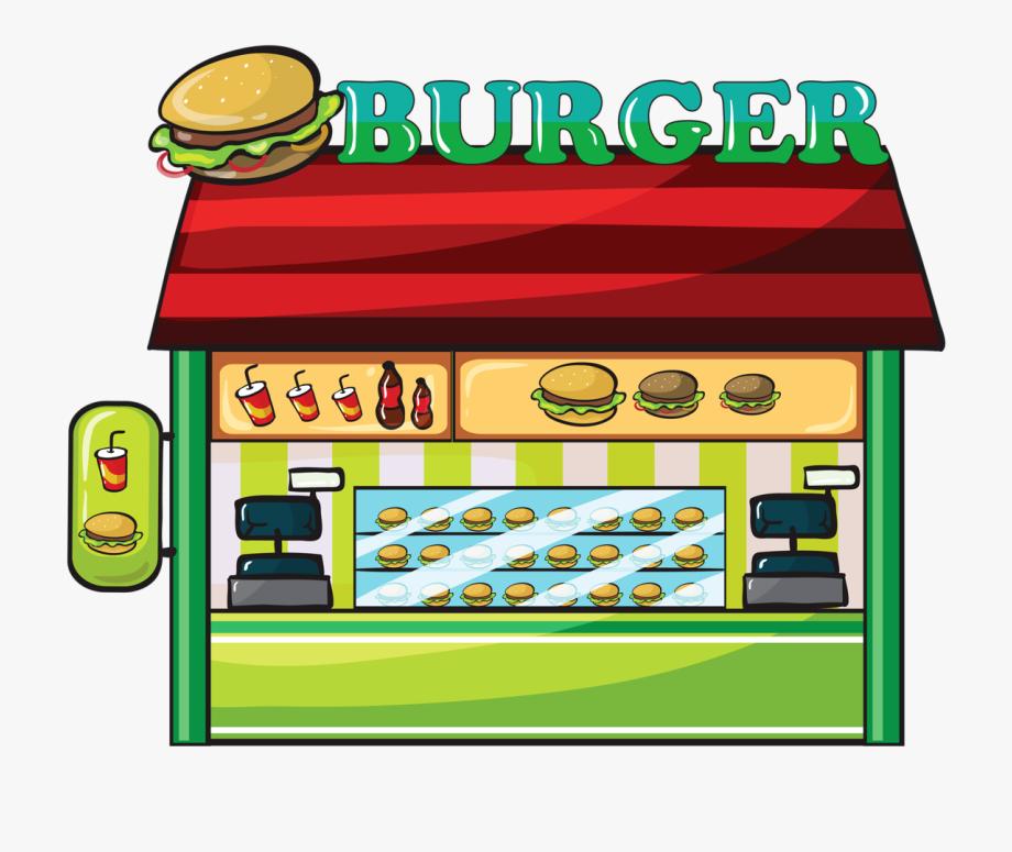 Fast food hamburger clip. Clipart restaurant cartoon