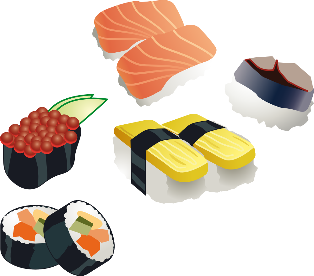 Sushi free download best. Japanese clipart hut