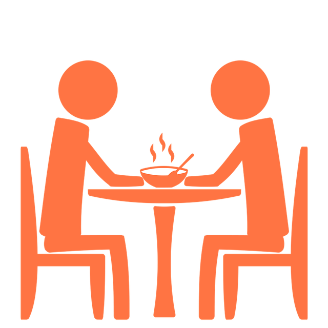 Restaurants clipart dining table. Free photo restaurant cafeteria