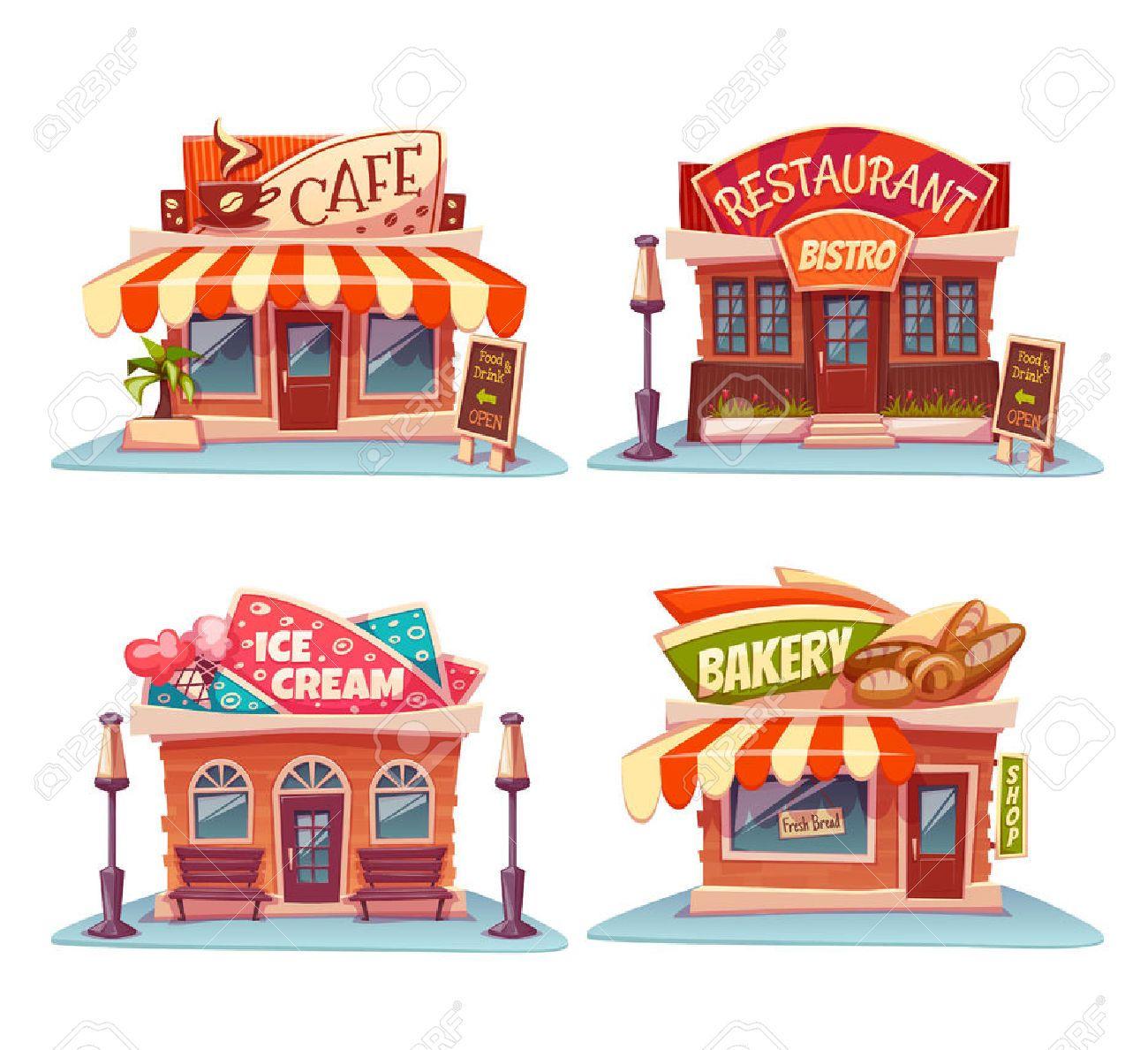 Clipart restaurant cute restaurant.  illustrations and