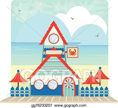 Clipart restaurant cute restaurant. Vector stock seashore clip