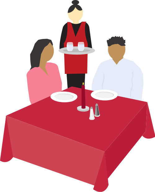 Restaurants clipart restaurant table. File couple dining clip