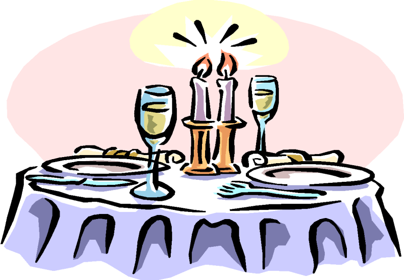 Restaurants clipart dinner. Fine dining cliparts free