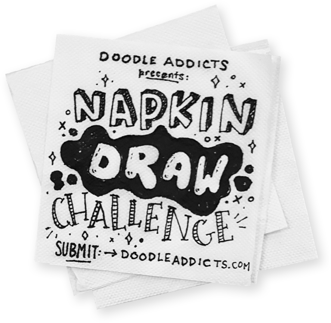 Napkin clipart folded napkin. Draw challenge doodle addicts