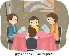 Clip art royalty free. Clipart restaurant family dinner time