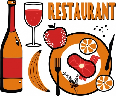 Restaurants clipart food beverage service. Free vector download for