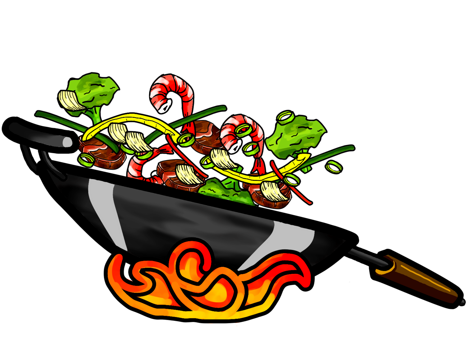 Chow . Fries clipart wok chinese