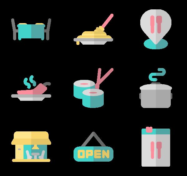 Chef icons free restaurant. Restaurants clipart vector