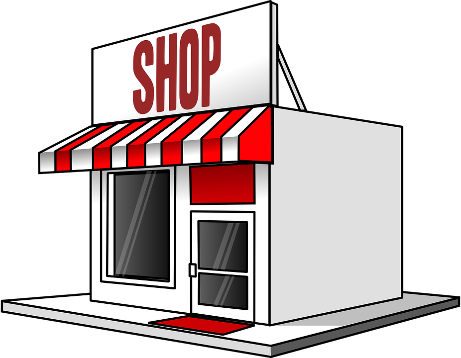 Free photo awning red. Clipart restaurant grocery store building