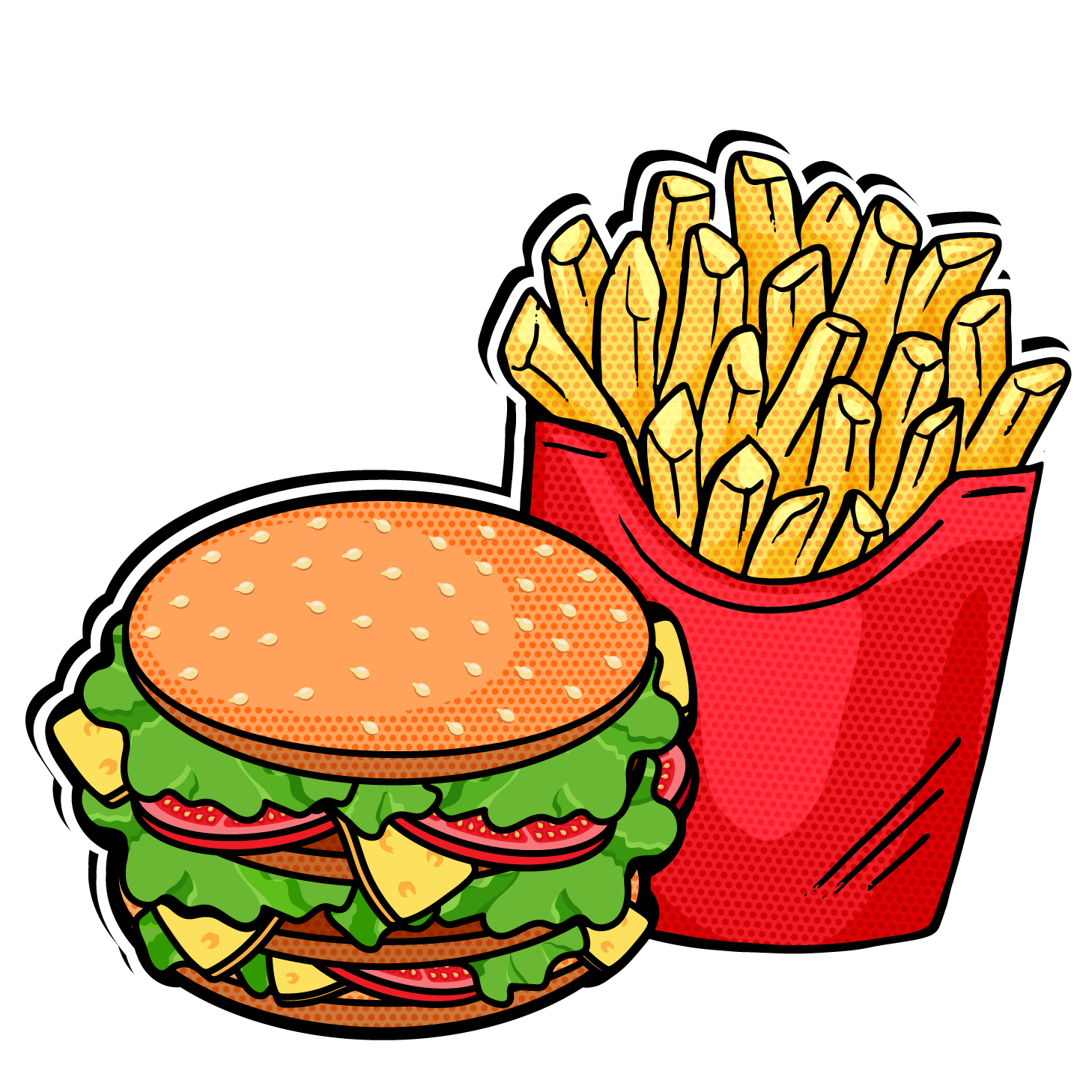 Meal clipart burger meal. Fast food french fries