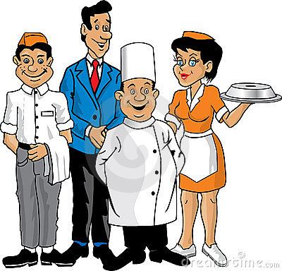 Waitress clipart hospitality service. Free download best
