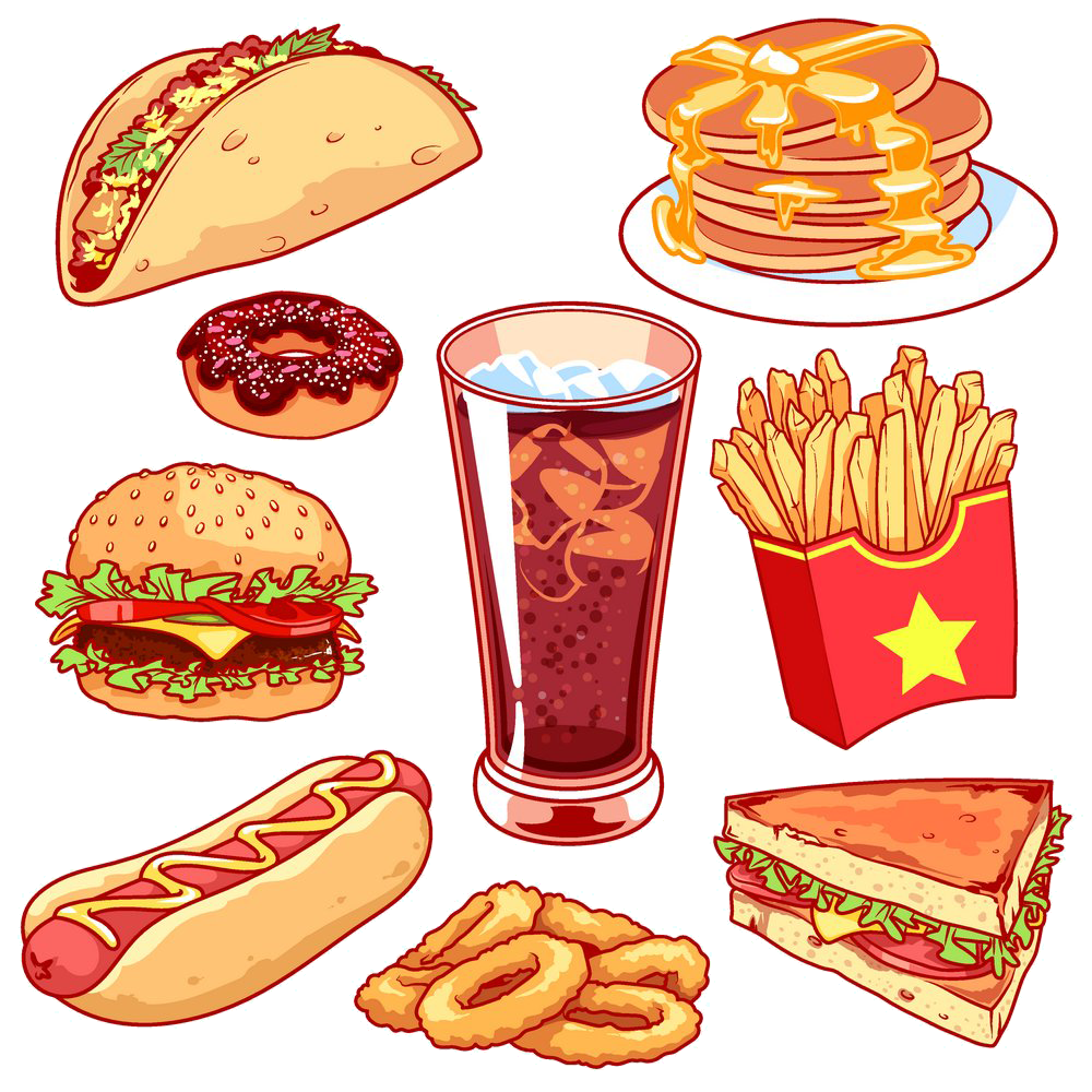 Fries clipart hotdog fry. Hamburger fast food junk