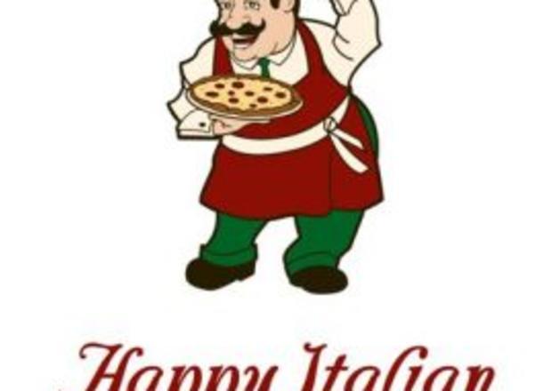Happy pizzeria . Clipart restaurant house italian