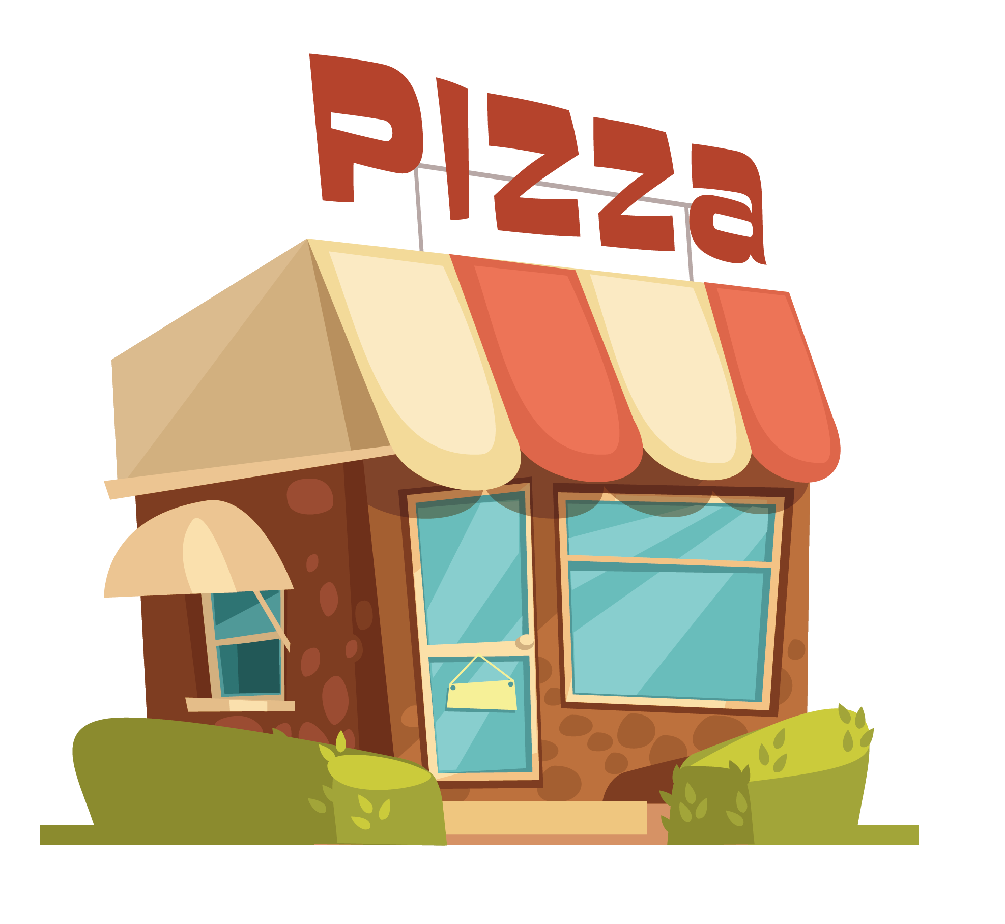 Pizza fast italian cuisine. Italy clipart home cooked food