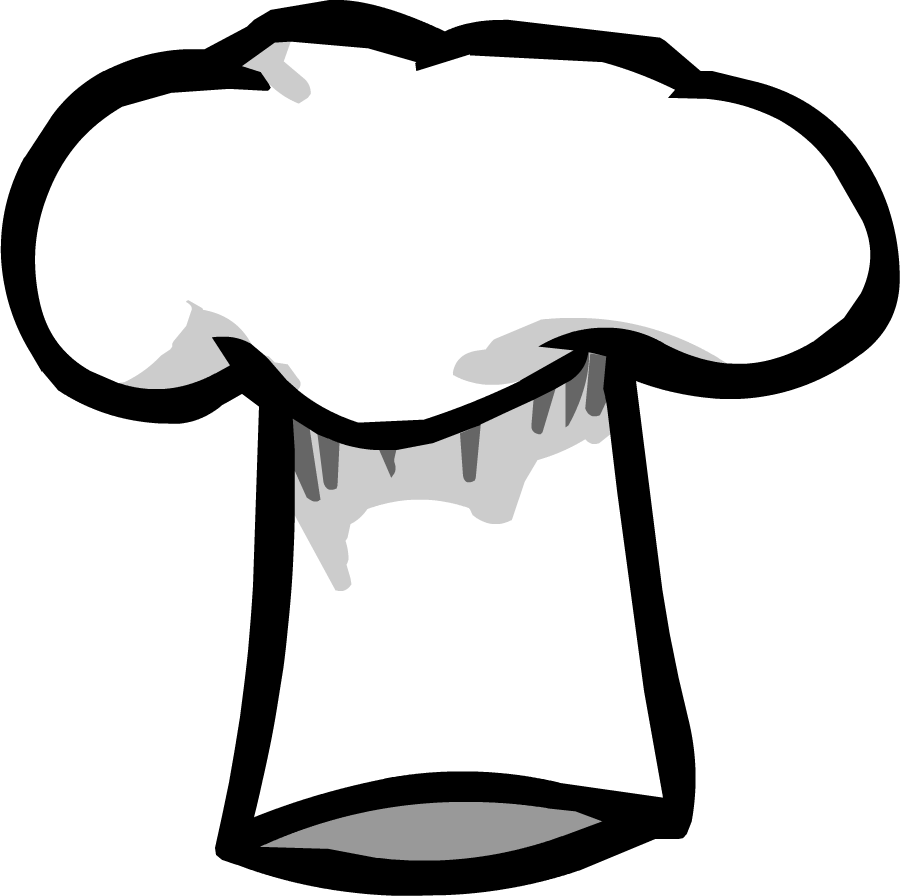 Longhorn clipart cap. Chef cook food hat