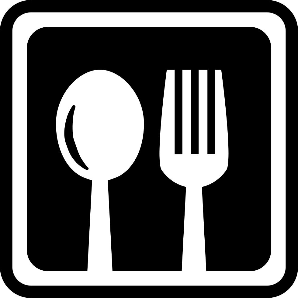 Restaurant cutlery symbol in. Restaurants clipart tool