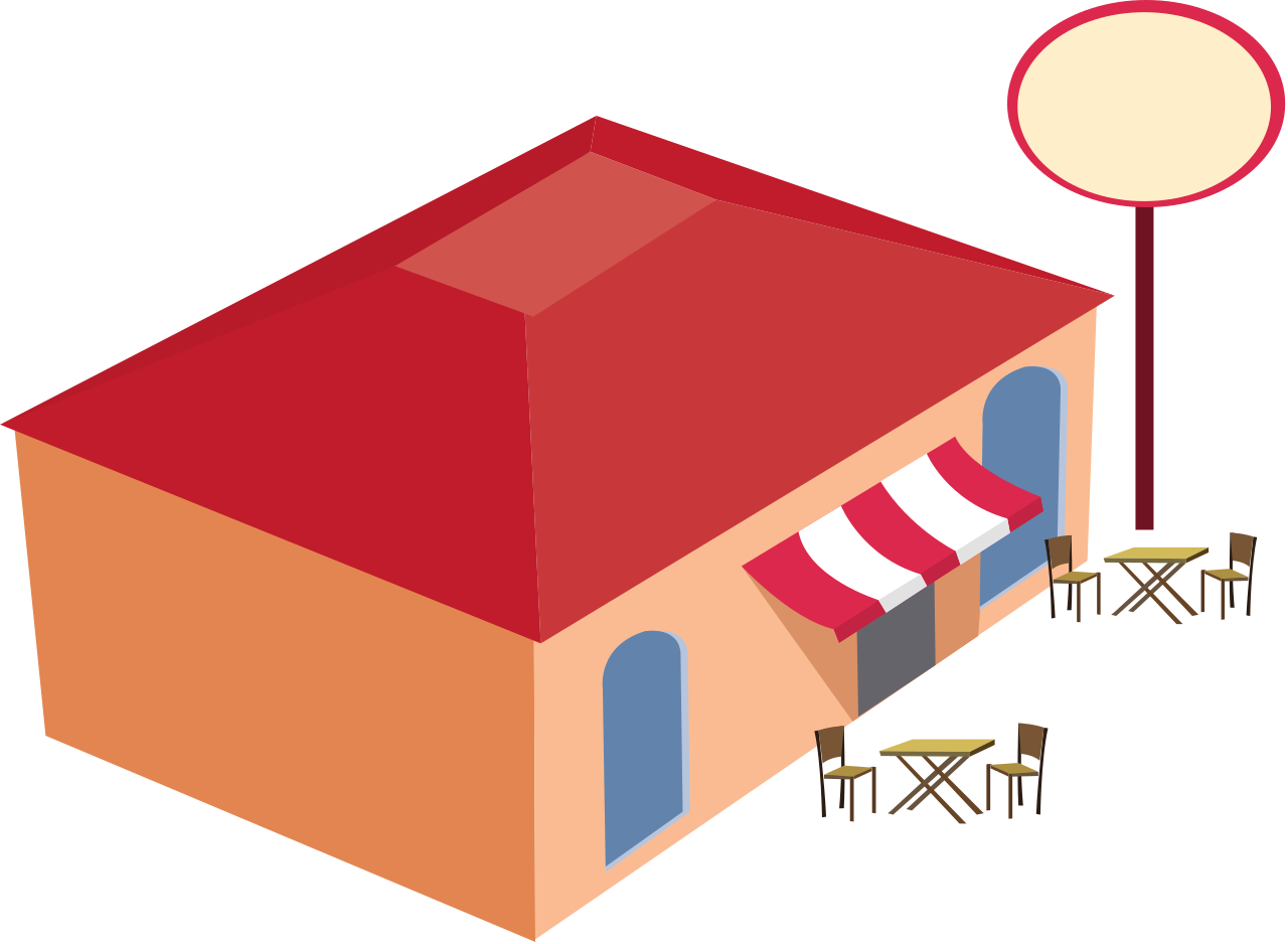 clipart restaurant illustration