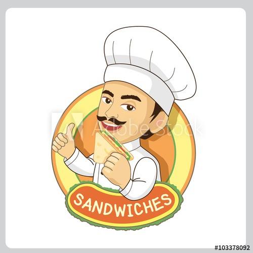 Vector sandwiches logo for. Clipart restaurant master chef