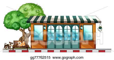 Clip art vector dogs. Clipart restaurant outside restaurant
