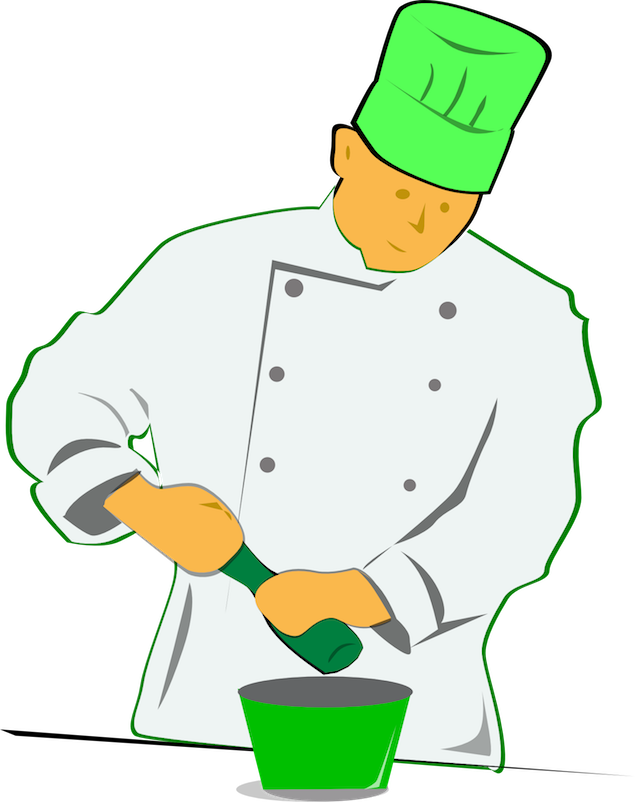 Clipart restaurant pastry chef.  ways to use