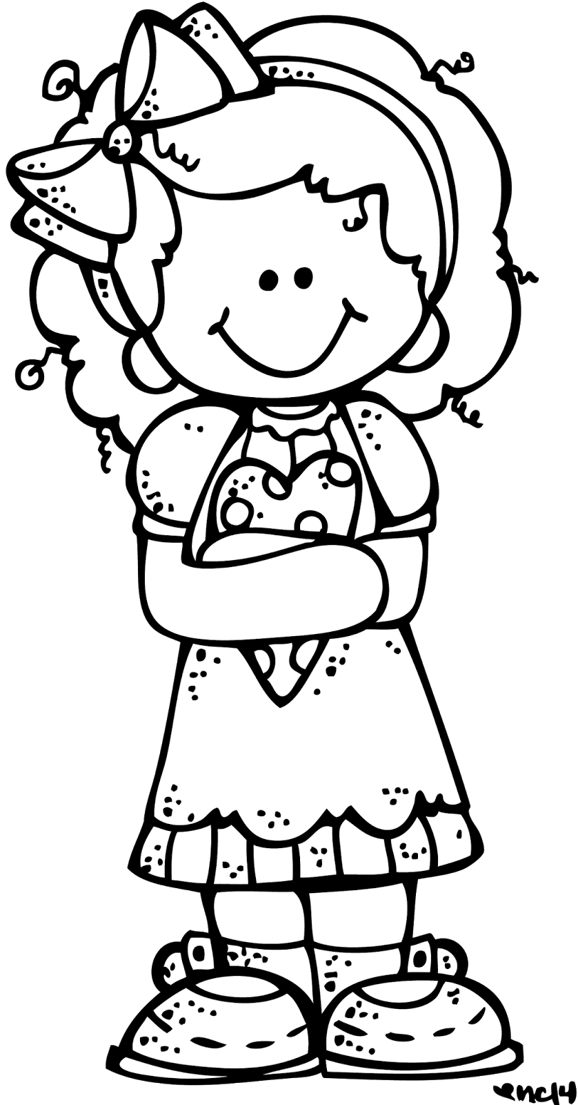 february clipart coloring