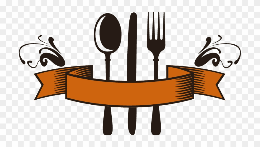 Fork spoon logo card. Clipart restaurant restaurant business
