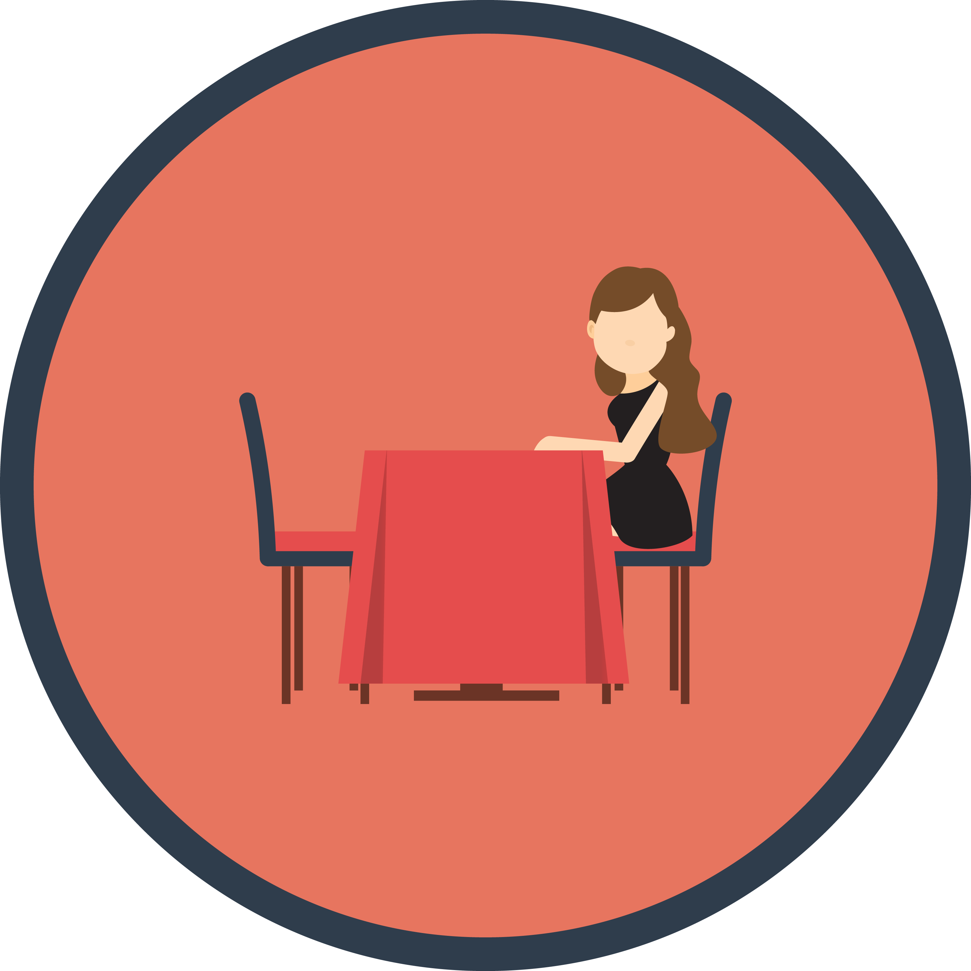 Seat check app sharing. Clipart table empty table