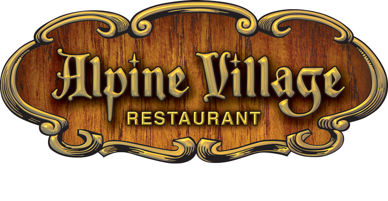 Small the alpine village. Clipart restaurant restaurant logo