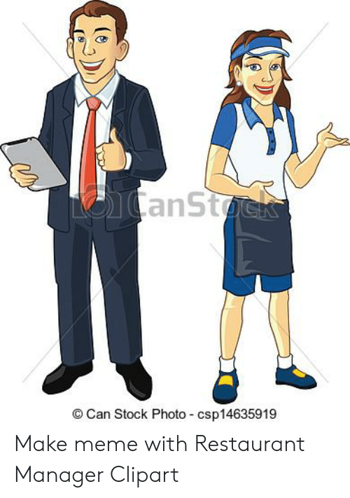 Tcanstock can stock photo. Manager clipart restaurant owner
