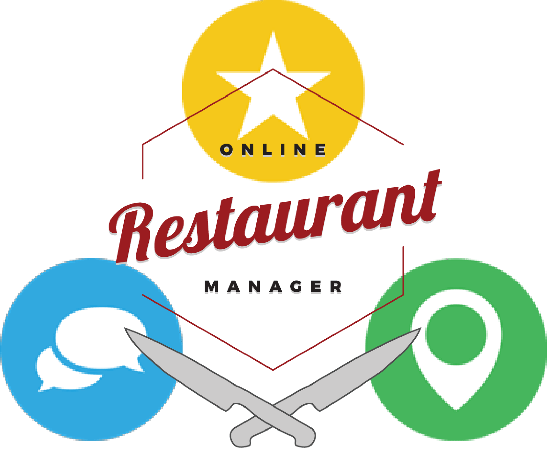 Local presence online. Manager clipart restaurant owner
