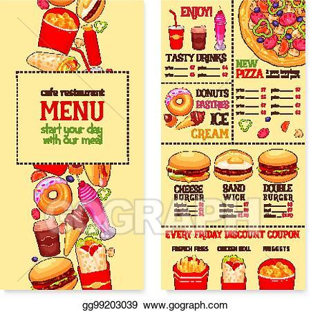 Clip art vector fast. Clipart restaurant restaurant menu