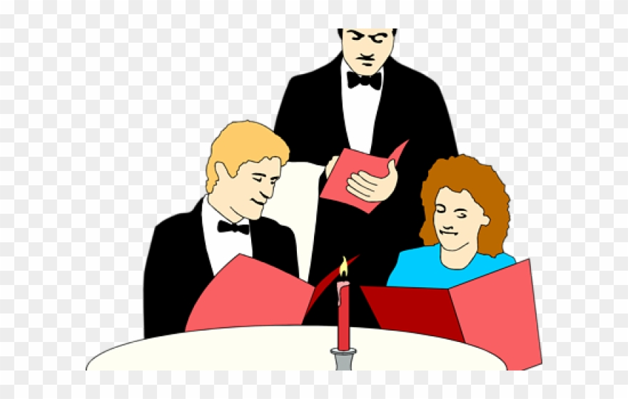 Waiter dialogue food and. Clipart restaurant restaurant owner