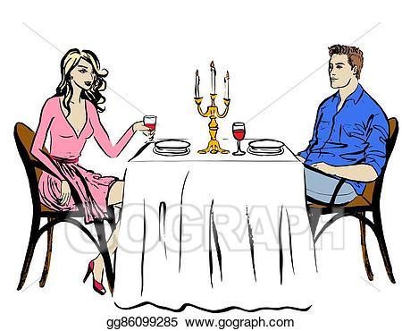 Vector stock dating in. Clipart restaurant restaurant person