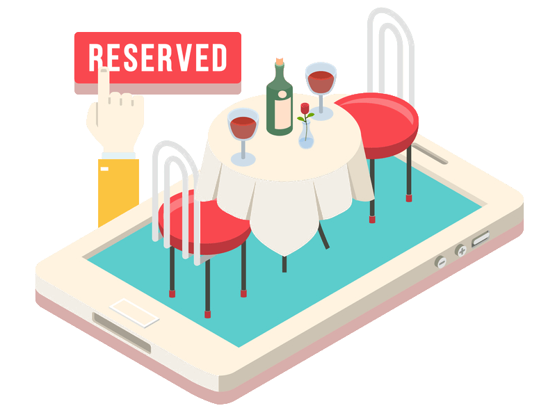 Clipart restaurant restaurant reservation. Services dinomeals integrated booking