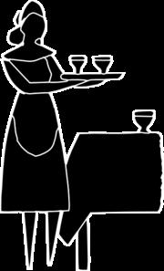 Icon clip art at. Clipart restaurant restaurant server