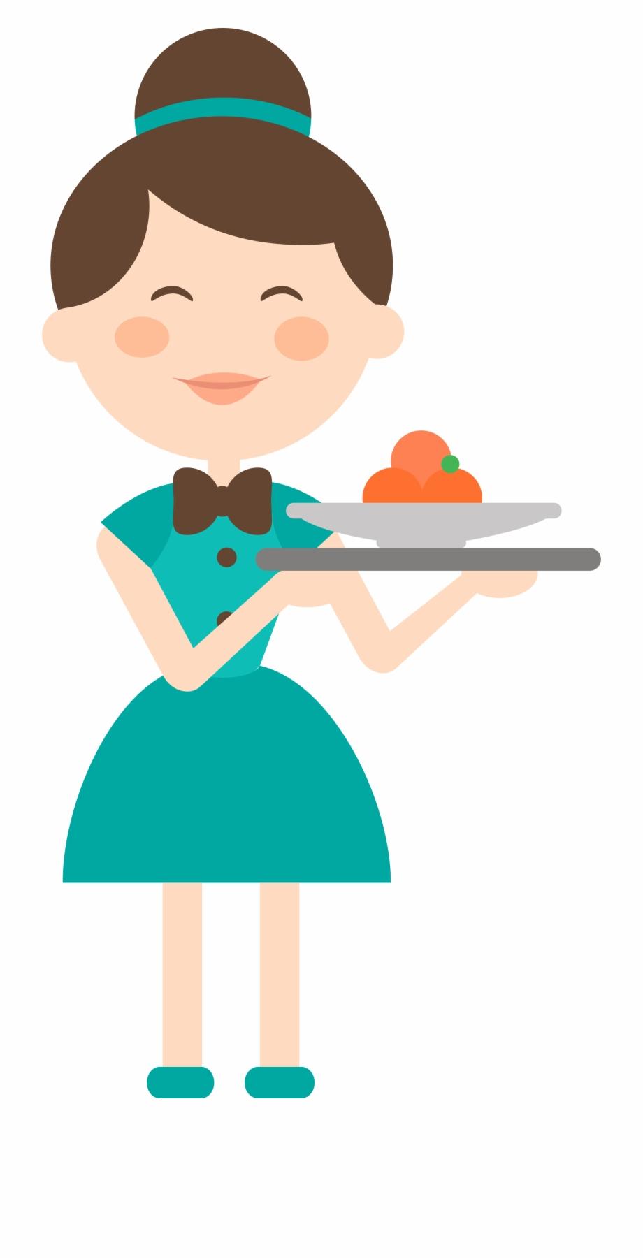 Clipart restaurant restaurant server. Clip art library