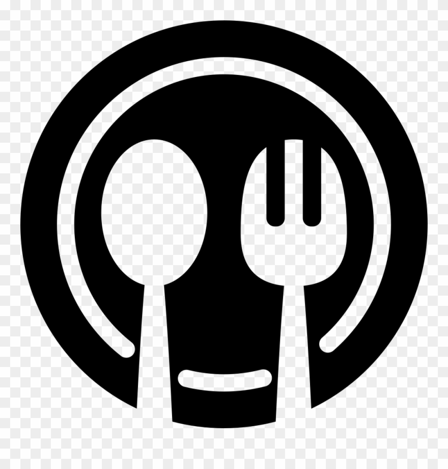 Clipart restaurant restaurant sign. Dining dinner plate icon