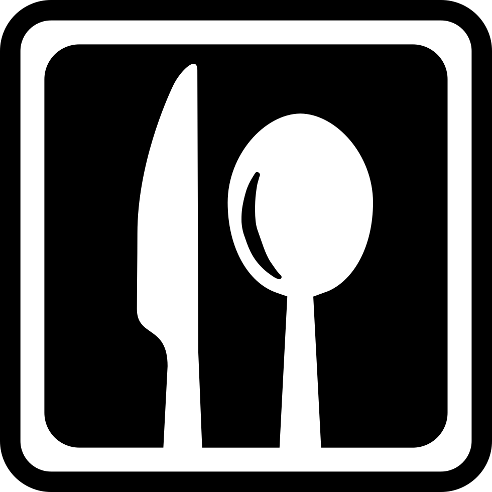 Square interface symbol with. Clipart restaurant restaurant sign