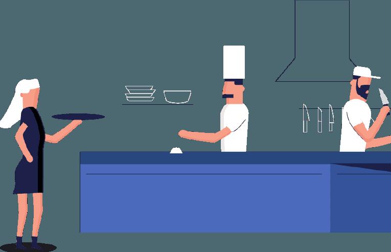 Scheduling guide shifts server. Employee clipart restaurant staff